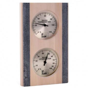 Термо - гігрометр для лазні та сауни SAWO 283 -THRAX вставка з каменю